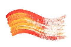 Onda vermelha e amarela da cor Imagem de Stock