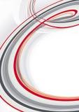 Onda vermelha e cinzenta abstrata Imagem de Stock Royalty Free