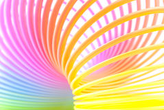 Ondamania. Abstract rainbow spiral horizontal background Stock Photography