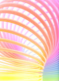 Ondamania. Abstract rainbow spiral vertical background Royalty Free Stock Images