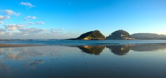 Ondarreta beach, La Concha Bay, Cantabrian Sea in Donostia Stock Photo