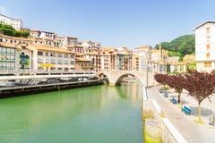 Ondarroa stad en haven Royalty-vrije Stock Afbeelding