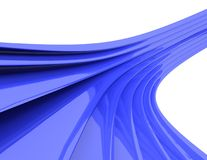 Ondas 3d abstratas Foto de Stock Royalty Free