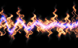 Ondas ablaze Foto de archivo