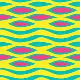 Ondas abstractas coloridas con colores en colores pastel Camufle el ejemplo inconsútil de moda del vector del modelo stock de ilustración