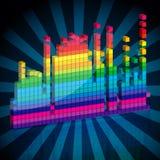 Ondas abstractas de la música Imágenes de archivo libres de regalías