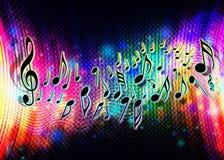Ondas abstractas de la música de fondo stock de ilustración