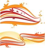 Ondas abstractas de la naranja Imagen de archivo