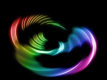 Ondas abstractas del arco iris Fotografía de archivo libre de regalías
