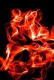 Ondas abstractas del fuego Fotografía de archivo libre de regalías