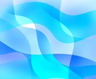Ondas abstratas do azul Ilustração Royalty Free