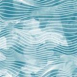 Ondas abstratas do azul Imagens de Stock