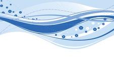 Ondas abstratas do azul Foto de Stock Royalty Free