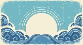 Ondas abstratas do mar. ilustração royalty free