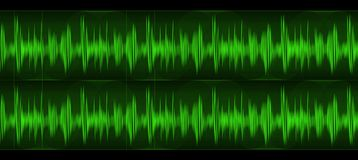 Ondas acústicas Imagen de archivo libre de regalías