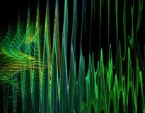 Ondas acústicas abstractas Fotografía de archivo