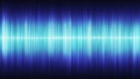 Ondas acústicas cósmicas azules que brillan intensamente en un fondo negro libre illustration