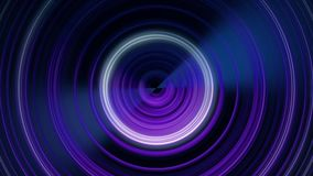 Ondas acústicas circulares Animación abstracta de las líneas circulares que pulsan de centro Animación colocada de monocromático ilustración del vector