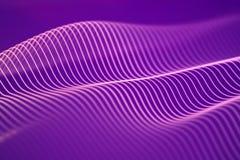 ondas acústicas 3d Visualización grande del extracto de los datos stock de ilustración