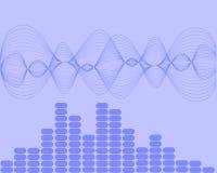 Ondas acústicas de la música Foto de archivo libre de regalías