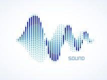 Ondas acústicas de la música Imagen de archivo