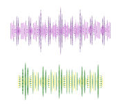 Ondas acústicas del VECTOR abstracto Fotografía de archivo libre de regalías