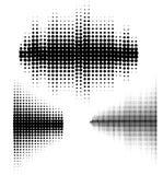 Ondas acústicas del vector fijadas La tecnología audio del equalizador, pulsa musical Ejemplo del vector del modelo y de la textu ilustración del vector