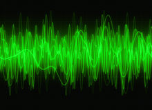 Ondas acústicas gráficas Imagenes de archivo