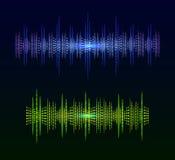 Ondas acústicas que brillan intensamente del VECTOR abstracto Imagen de archivo