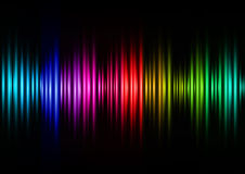 Ondas acústicas del color Foto de archivo