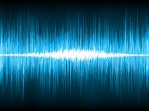 Ondas acústicas que oscilan en fondo negro. EPS 8 Imagenes de archivo