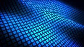 Ondas ahumadas azules ilustración del vector