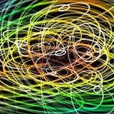 Ondas aleatórias coloridas de partículas moventes, conceito do caos ilustração stock