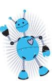 Ondas angulares roxas azuis do robô Foto de Stock