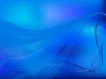 Ondas azuis Imagem de Stock