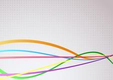 Ondas brilhantes coloridas communicational abstratas Fotos de Stock