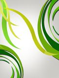 ondas circulares verdes, fondo abstracto Fotos de archivo libres de regalías