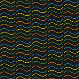 Ondas coloridas del modelo inconsútil Fotografía de archivo