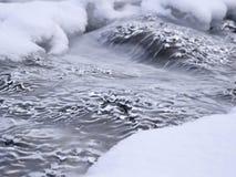 Ondas congeladas del hielo Figuras extrañas Foto de archivo libre de regalías