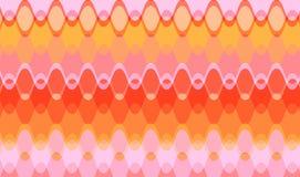 Ondas cor-de-rosa suculentas retros da corrente ilustração do vetor
