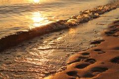 Ondas costeras Imagen de archivo libre de regalías
