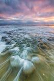 Ondas da associação da maré de La Jolla Fotografia de Stock