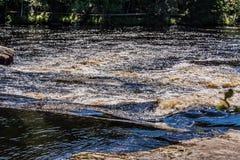 Ondas da cor e redemoinhos do rio Imagens de Stock