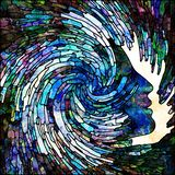 Ondas da cor espiral ilustração do vetor
