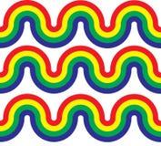 Ondas da curva do arco-íris Imagem de Stock