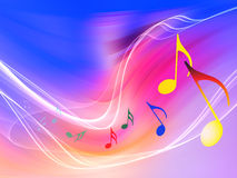 Ondas da música ilustração royalty free