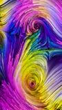 Ondas da pintura colorida ilustração do vetor