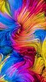 Ondas da pintura colorida ilustração stock