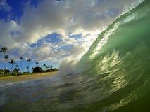Ondas da praia de Havaí Fotos de Stock Royalty Free