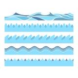 Ondas de água azul ilustração do vetor